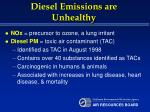 diesel emissions are unhealthy