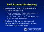 fuel system monitoring