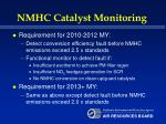 nmhc catalyst monitoring