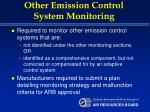 other emission control system monitoring