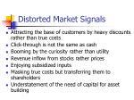 distorted market signals