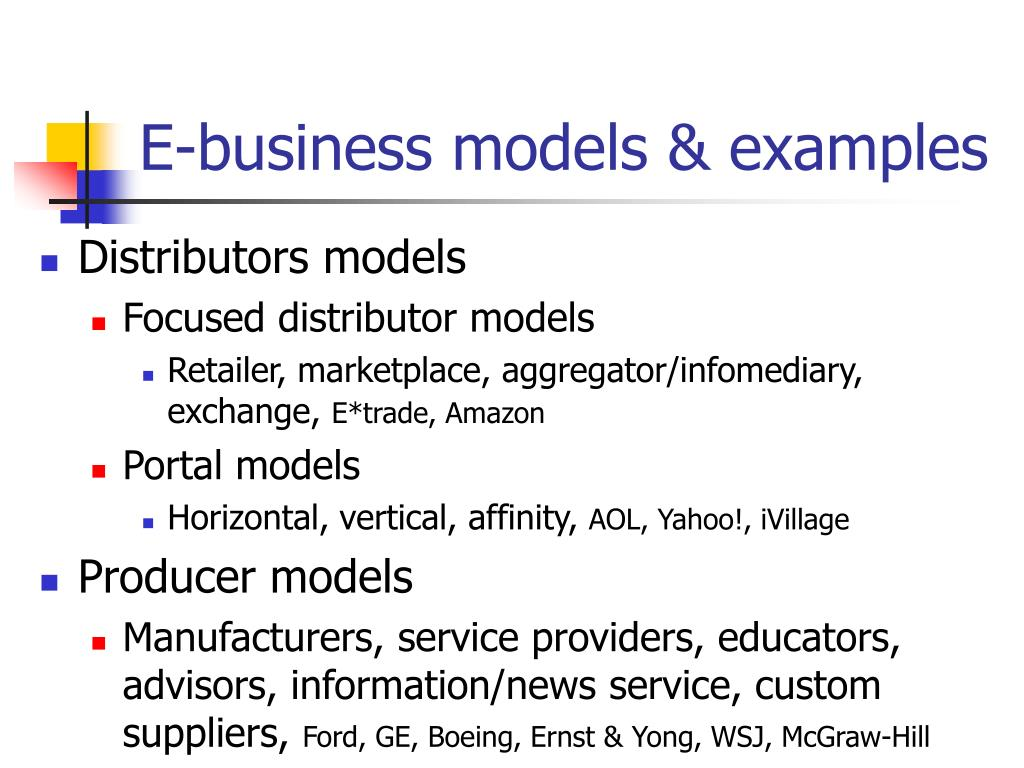 E-business models & examples