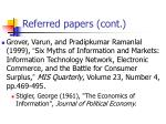 referred papers cont