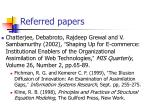 referred papers