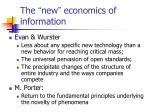 the new economics of information