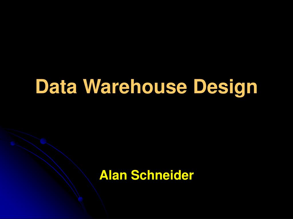 data warehouse design l.