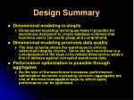 design summary