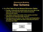 dimensional modeling star schema