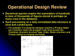 operational design review