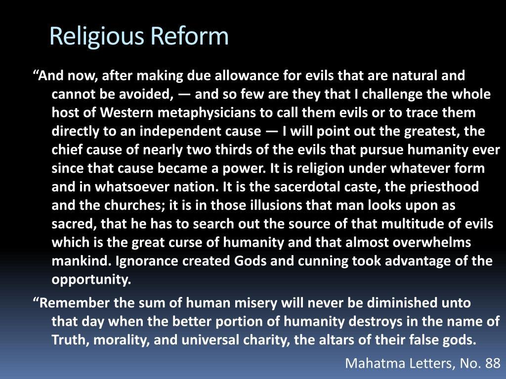 Religious Reform