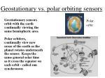 geostationary vs polar orbiting sensors