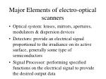 major elements of electro optical scanners