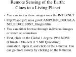 remote sensing of the earth clues to a living planet24