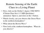 remote sensing of the earth clues to a living planet25