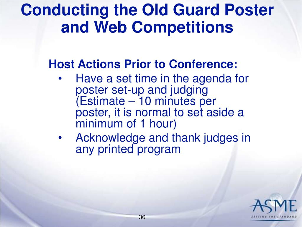Conducting the Old Guard Poster and Web Competitions
