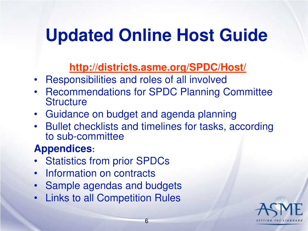 Updated Online Host Guide