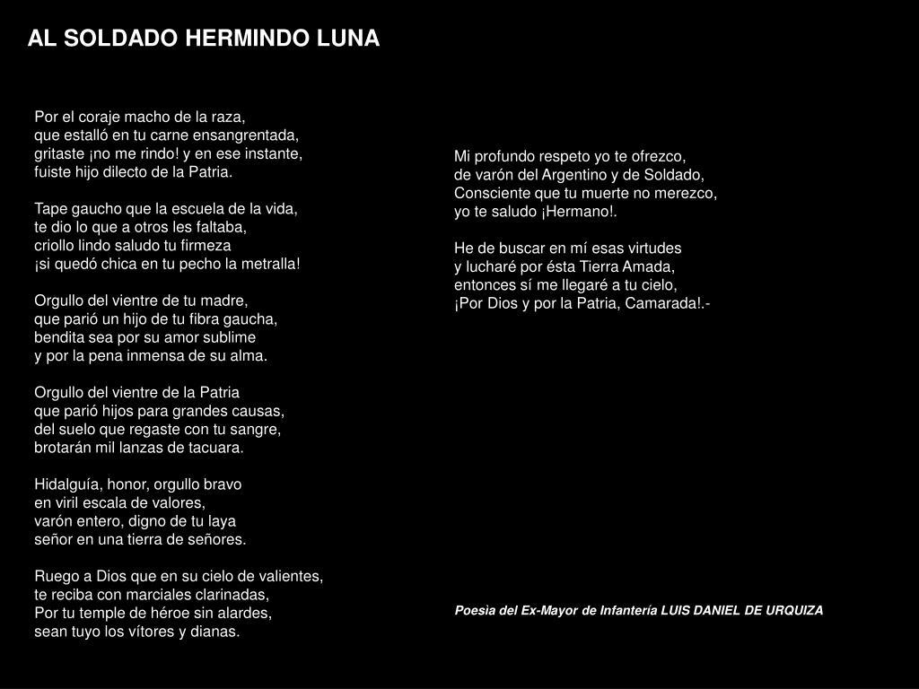 AL SOLDADO HERMINDO LUNA
