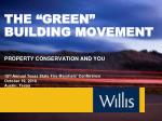 the green building movement