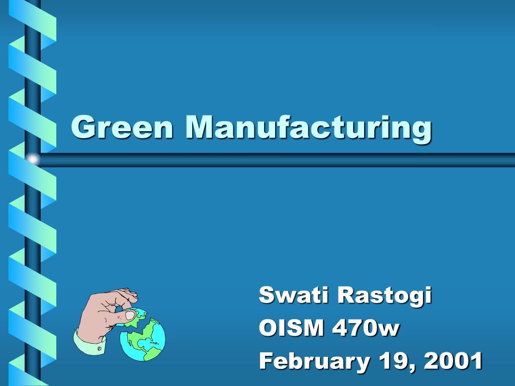 green manufacturing l.
