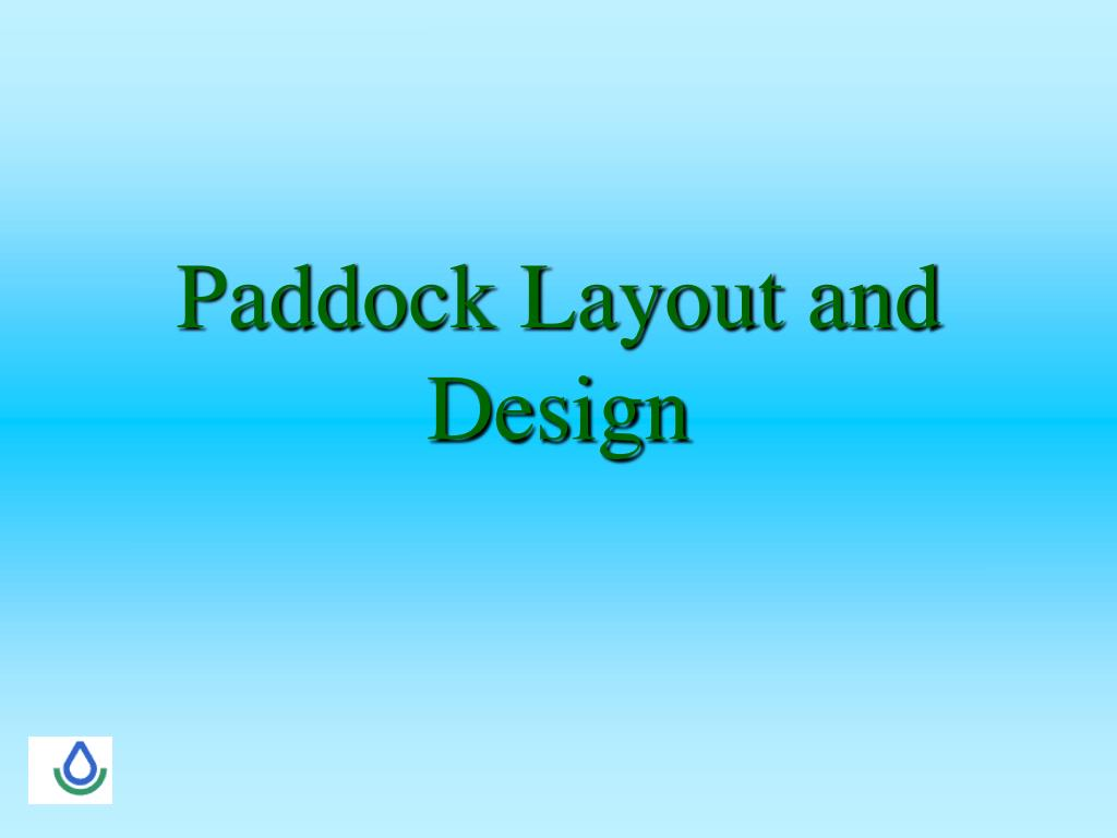 paddock layout and design l.