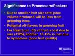 significance to processors packers