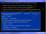 using a concrete constraint mechanism in a bics instance document