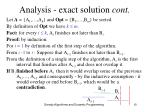 analysis exact solution cont