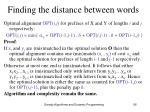 finding the distance between words