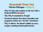 household water test nitrate nitrogen no 3 n