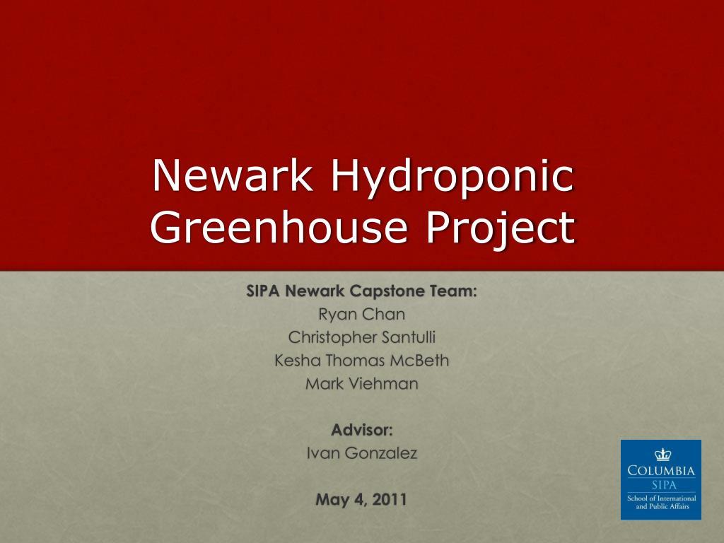 newark hydroponic greenhouse project l.