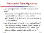 polynomial time algorithms