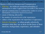 process of interpersonal communication cont17
