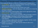 process of interpersonal communication cont21