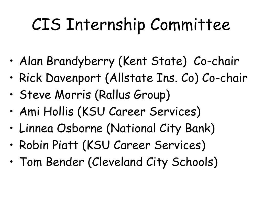 CIS Internship Committee
