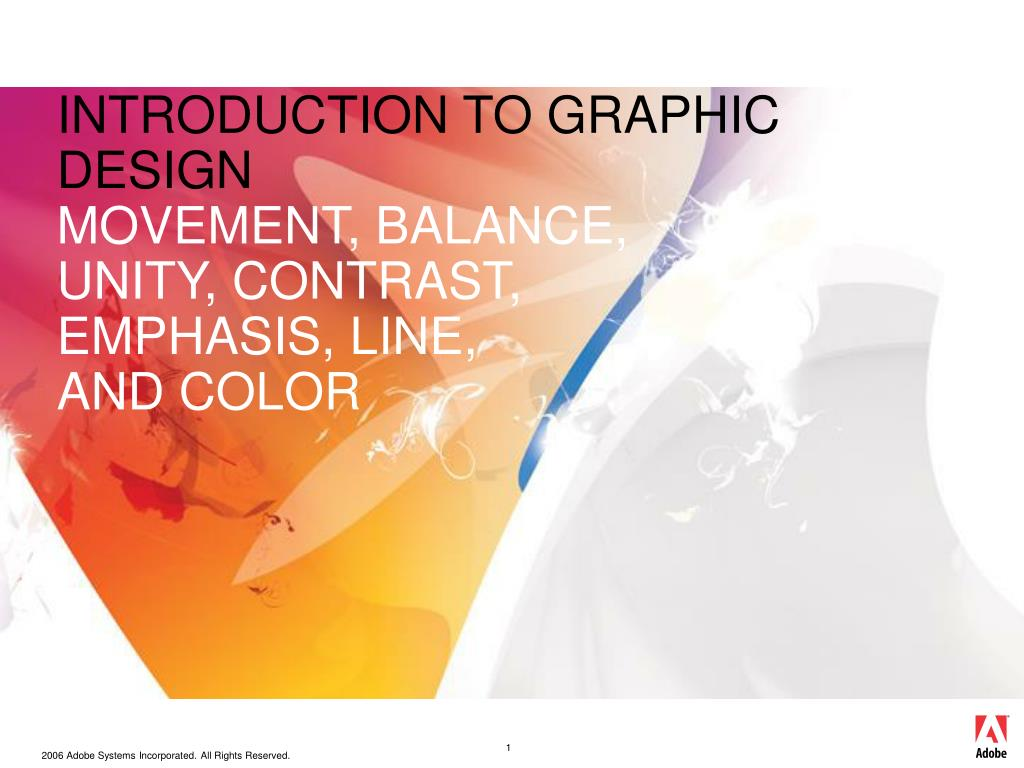 introduction to graphic design movement balance unity contrast emphasis line and color l.