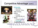competitive advantage cont