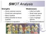 sw ot analysis