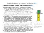 initiation of collapse the first crush formation of part b