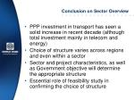 conclusion on sector overview