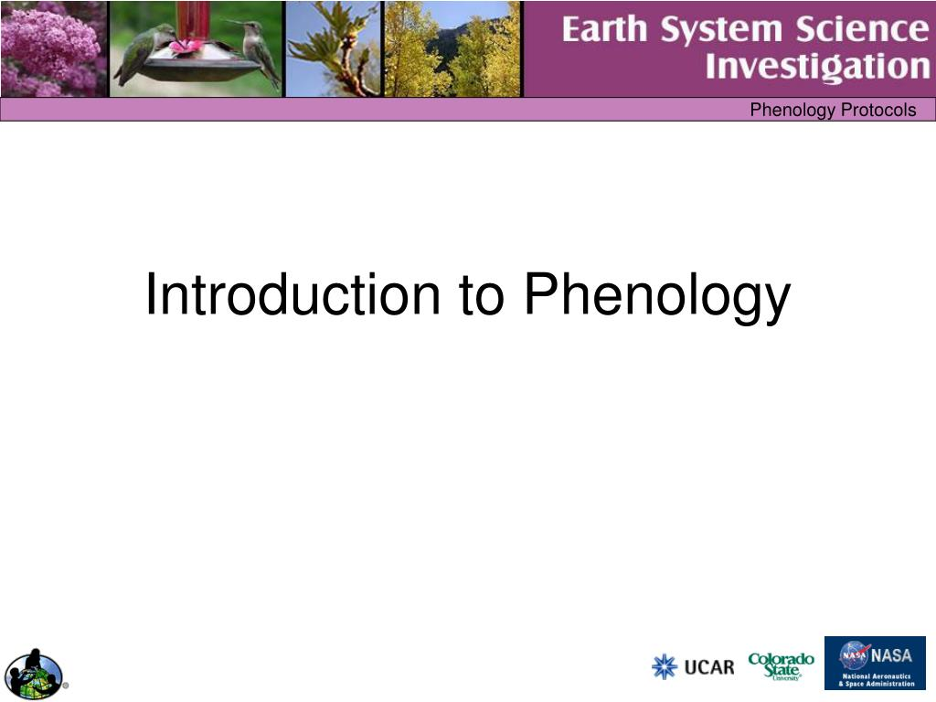 introduction to phenology l.