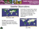 satellite observations