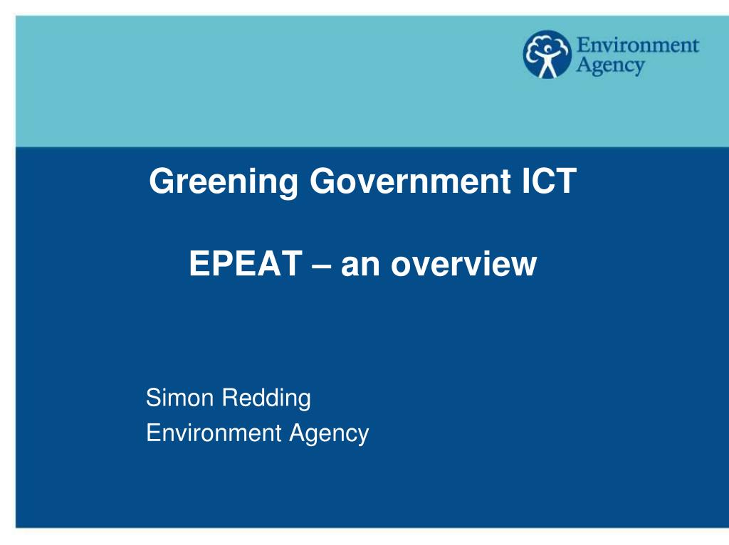 greening government ict epeat an overview l.