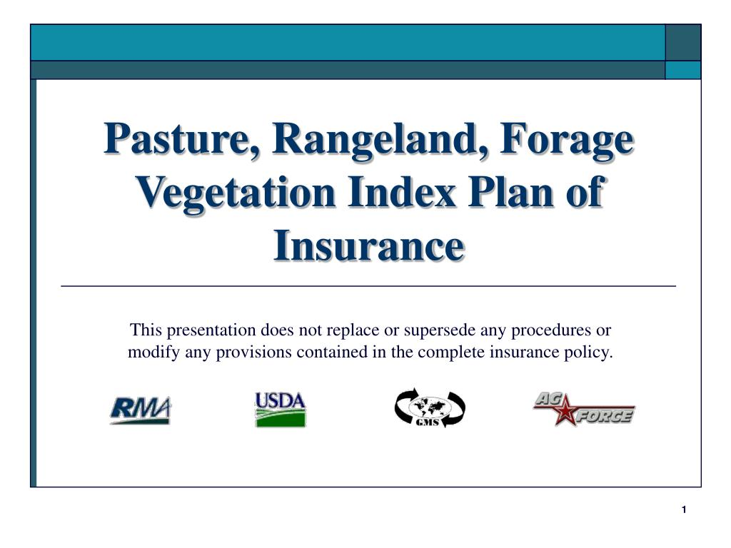 pasture rangeland forage vegetation index plan of insurance l.