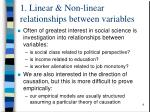1 linear non linear relationships between variables