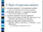 5 types of regression analysis