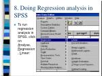 8 doing regression analysis in spss