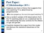 past paper c2 relationships 3 0