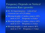 frequency depends on vertical extension rate growth