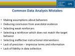 common data analysis mistakes