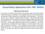 group activity applications of the abc method